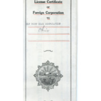 Supplemental License Certificate of Foreign Corporation